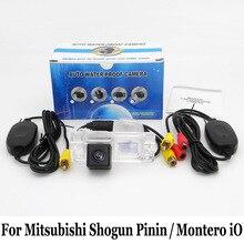 Парковка Камера для mitsubishi shogun pinin/Montero IO/RCA AUX Провода или Беспроводной/HD CCD Ночное видение заднего вида Камера