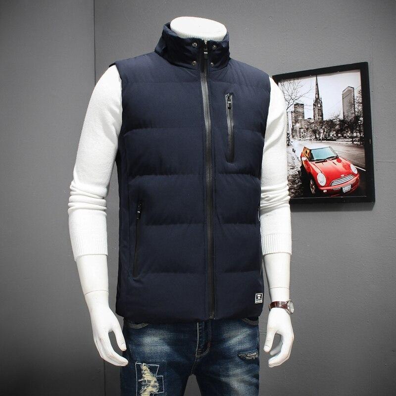 Grande taille 8XL 6XL 5XL 4XL 2018 nouveau élégant automne hiver gilet hommes de haute qualité capuche chaude sans manches veste gilet hommes - 3