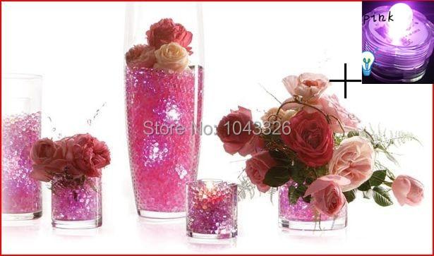 asi 1 taška = 800ks = 15g + LED světlo, krása Dekor Korálky Vodný křišťál Perličková koule Pudrové korálky pro svatební oslavy