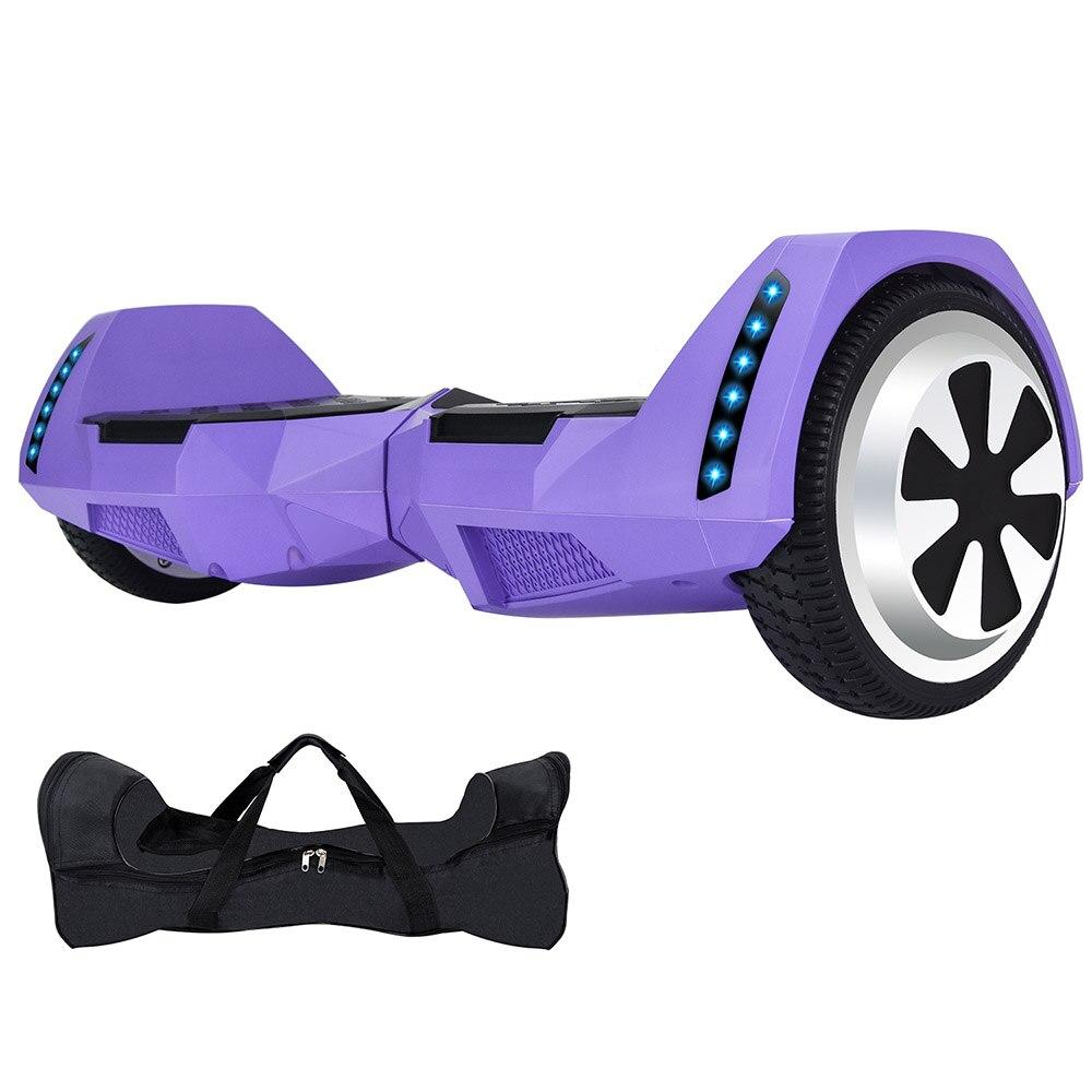 Электрический скейтборд 10 дюймов скутер двухколесный Smart балансировочный гироскутер с светодиодный Bluetooth Динамик удаленный контроль и сум... - 6