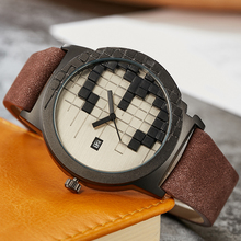 Unique Fashion Three Dimensional Creative Design Digital Dial Quartz Watch Men Women Watches Lover Gifts Relojes de los pares