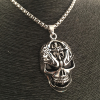 The New Tide Hip Hop Nightclub Bar Skeleton Hip Hop Dance Necklace