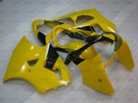for Kawasaki ZX6r 00 Fairings ZX6r 636 2000 2002 Yellow Black White Fairings ZX6r 636 2000 Fairings