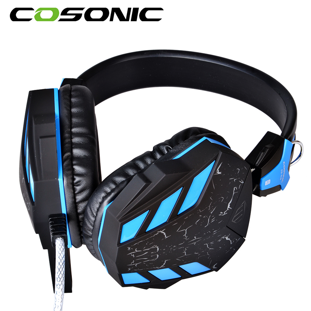 ФОТО 2016 Original Cosonic Game Headset Crack Auriculares and Subwoofer Surround Headphone Noise Cancel Earphone with Retail Packing