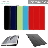 SZEGYCHX Case For Apple Ipad Mini 1 2 3 TPU Soft Silicone Transparent Smart Cover Trifold