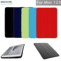 SZEGYCHX Case For Apple Ipad Mini 1 2 3 TPU Soft Silicone Transparent Smart Cover Trifold