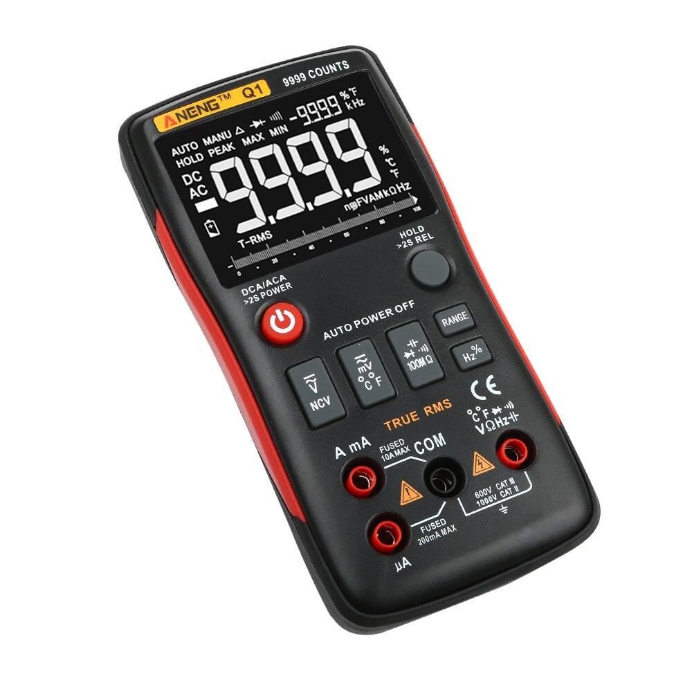 UN Q1 Numérique True-rms LCD Multimètre AC/DC Testeur De Courant De Tension Avec NCAC-Sans tension détection Pour Électriciens Outil de Test