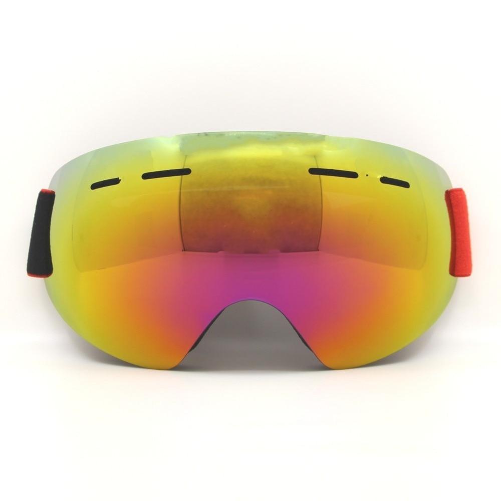 Prix pour Sans cadre Ski Lunettes UV400 Anti-brouillard Adulte Snowboard Snowboard Lunettes Lunettes de Ski de Neige Pour Homme Double Couche Lentille