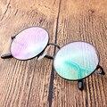 Ретро круглый большой кадр titanium рамка для мужчин и женщин ноги декоративные очки кадров очки рамки очки по рецепту 8322