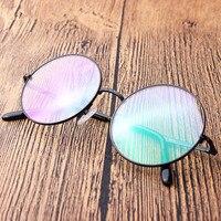 레트로 라운드 큰 프레임 티타늄 프레임 다리 장식 안경 프레임 안경 프레임 처방 안경 8322