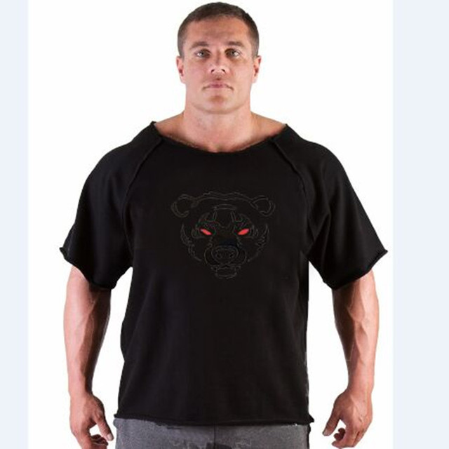 2016 summer brand casual t-shirt man wearing gorilla in the world bodybuilding and fitness muscle shirt plus size clothing