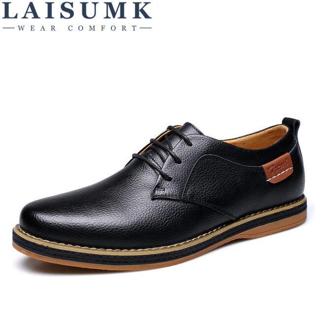 premium selection c93ec 5eb23 2019 LAISUMK Männer Business Schuhe Leder Blau Schwarz Gelblich Spitze  Kleid Oxfords Freizeit Niedrigen Ferse Zapatos Hombre Vestir Größe 11