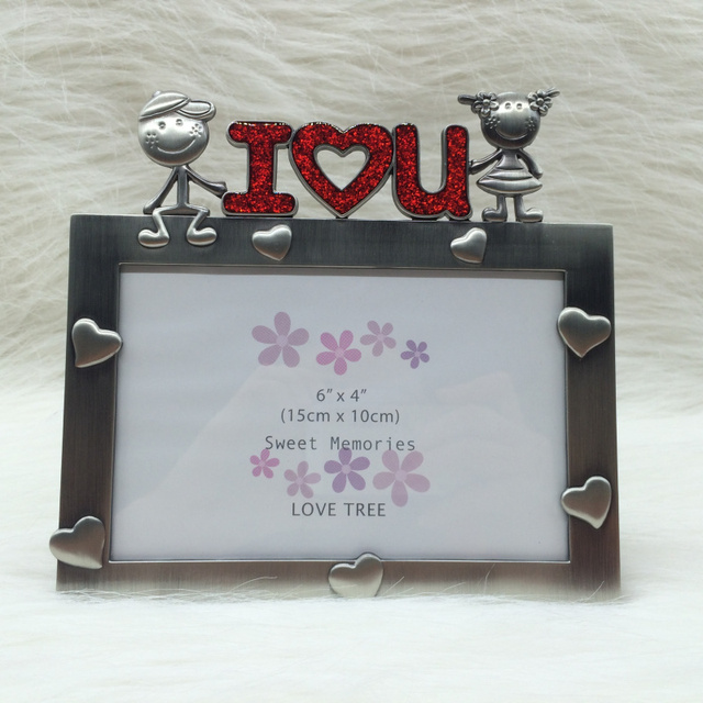 I Love U Antique Vintage Photo Frame For Picture Baby Birthday Gift