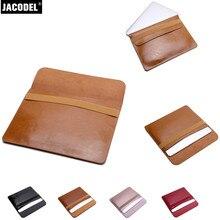 Jacodel PU для ноутбука в полоску Сумка 11,6 12 13,3 15,4 для Macbook Air Pro и сумка для ноутбука для Macbook аксессуары сумки
