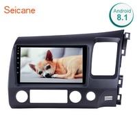 Seicane Android 8,1 9 Автомобильный мультимедийный плеер для Honda Civic 2006 2007 2008 2009 2010 2011 2din gps навигационная поддержка AUX USB
