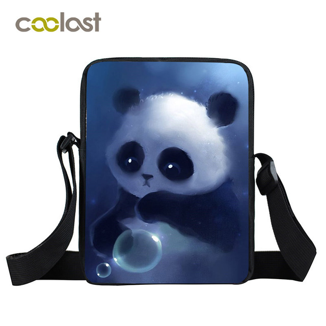 3a4de3d3ad Divertente Panda Mini Borsa con tracolla Per Bambini Borse da Scuola  Portatile Borsa Delle Donne Delle