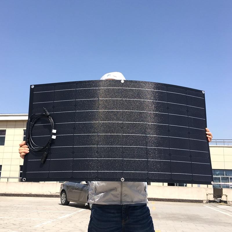 Workstar Flexible 100w panneau solaire 12V chargeur solaire une cellule solaire monocristallin de qualité système solaire PET ETFE panneau solaire 100w