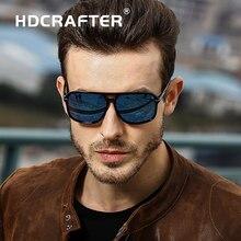 33fae1714 HDCRAFTER quadrados óculos de sol dos homens polarizados escudo espelhado  óculos de sol para homens uv400 condução homem dos ócu.