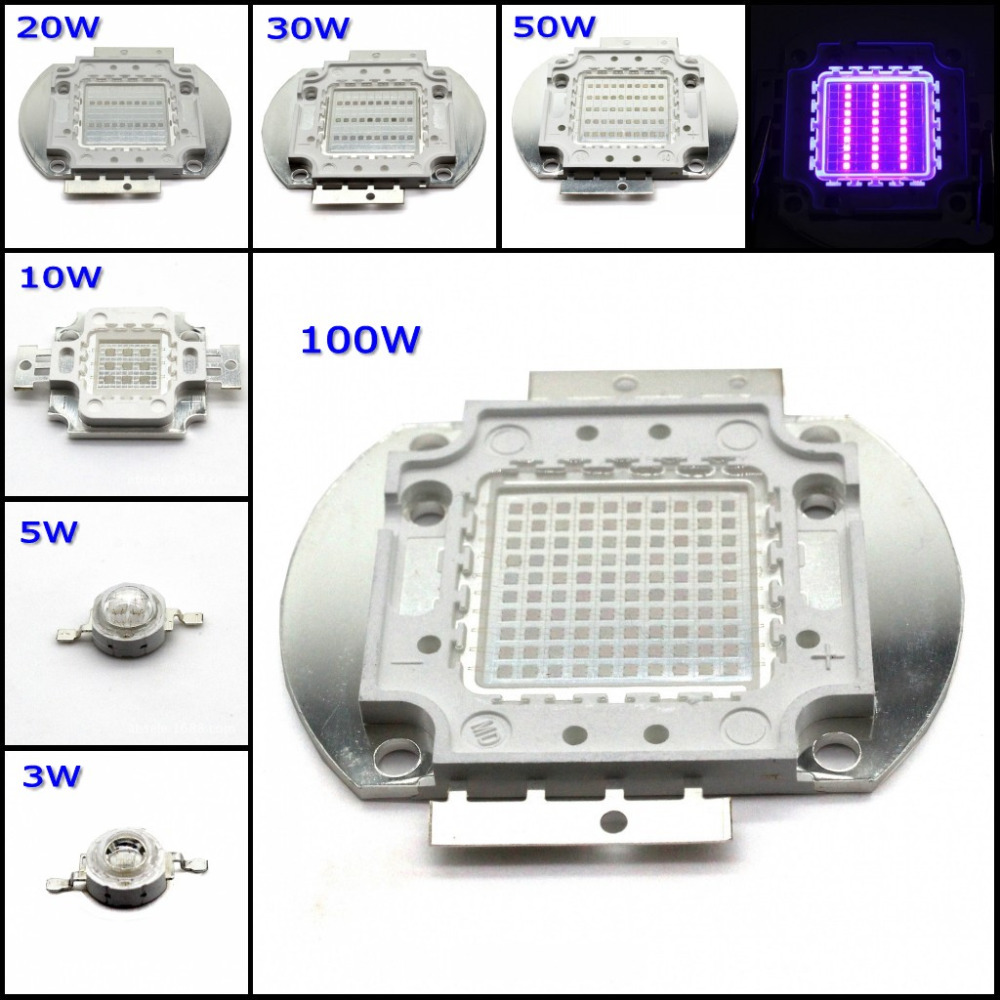 High Power UV LED Chip 360NM 365NM 370NM 375NM 380NM 385NM 390NM 395NM for 3W 5W 10W 20W 30W 50W 100W UV Lamp DIY Epileds 45mil