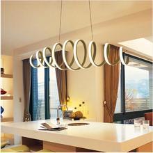 AC85-260V Modern led chandelier for dining room bar kitchen aluminum acrylic white hanging pendant lamp free shipping