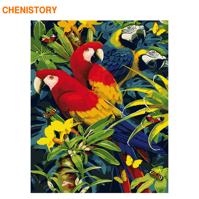 Aliexpress.com : Buy CHENISTORY Frameless Parrot Animals DIY ...