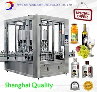 Automatic Spirit Red Wine Filling Machine 24 Nozzles 1L Alcohol Vinegar Filling Machine Automatic Glass Bottle