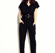 Hot sale European and American big celebrity women Jumpsuits & Rompers Long trousers one-piece pants with belt gift Size M,L,XL