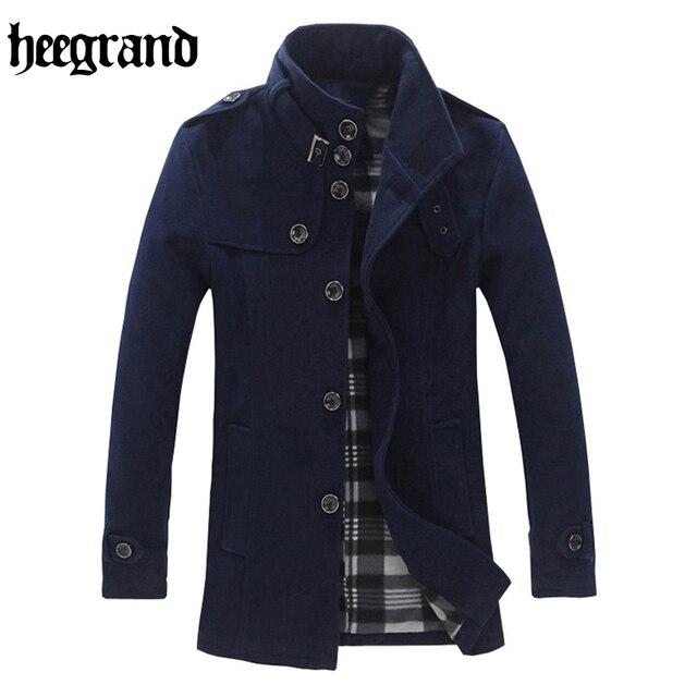 Aliexpress.com : Buy HEE GRAND 2017 Winter Coat Men Wool Cotton ...