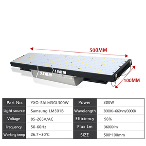 Image 3 - led grow light LM301B 400Pcs Chip Full spectrum 240w samsung 3000K, 660nm Red Veg/Bloom state Meanwell driver