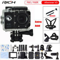 Action Camera F60R Remote Controller Wifi 4K 1080p Extreme Go Pro Mini Diving Waterproof 30m F60