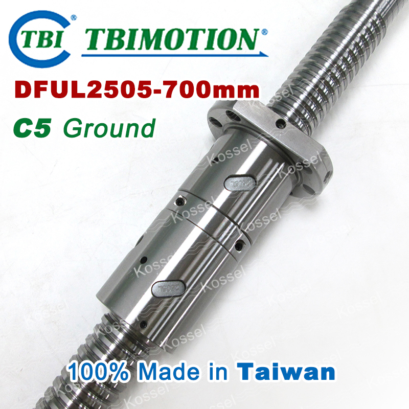 TBI 2505L left Rotation 700mm Customized Grinding Ballscrew DFU2505 ball screw with one Double ball nut  diy CNC machine горелка tbi sb 360 blackesg 3 м