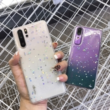Honor 8x 7x 9 10 Clear Glitter Star Case For Huawei P20 P30 Pro Cases For Huawei Mate 20 lite pro Nova 3i 3 Soft Silicone Cover magnet car holder case for honor 8x 10lite note10 huawei mate9 p10 clear soft tpu cover for huawei p20 pro lite nova 3 3i cases
