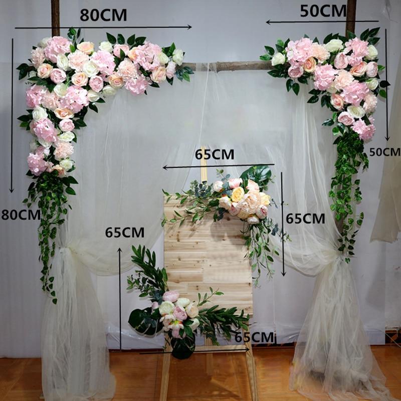 1 pc fleur artificielle rangée fleur mur mariage bricolage décor arche Floral bricolage scène arrière-plan mise en page fleurs décoratives accessoires Flores