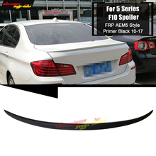 For BMW F10 High Kick Big Trunk Spoiler Wing FRP Unpainted M5 style 5 series 520i 525i 528i 535i 550i wing Rear spoiler 2010-17 for bmw f10 carbon fiber cf trunk spoiler wing psm style 5 series 520i 525i 530i 550i high kick big rear wing spoiler 2010 2017