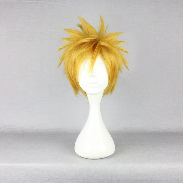 Synthetic Wigs Golden Blonde Short 30cm Anime Cosplay Fancy Party Full Wig Hair Extensions & Wigs Wig Cap High Standard In Quality And Hygiene