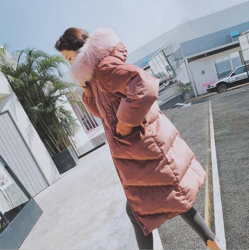 Femelle Manteau Le Coton Velours Longue 2018 Hiver Vers Blue Chaud Veste R67 Femmes Bas pink Dames Outwear Parkas zIwUqXxq0