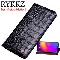 RYKKZ Genuine Leather Flip Case For Meizu Note 9 Cover Magnetic case For Meizu Note 9 8 Cases Leather Cover Phone Cases