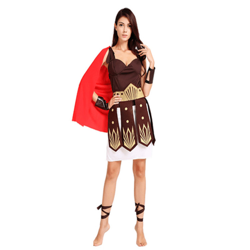 Women Men Ancient Roman Greek Warrior Gladiator Cosplay Costume Adult Knight Julius Caesar Costumes Cosplay for Men Women Couple in Movie TV costumes from Novelty Special Use