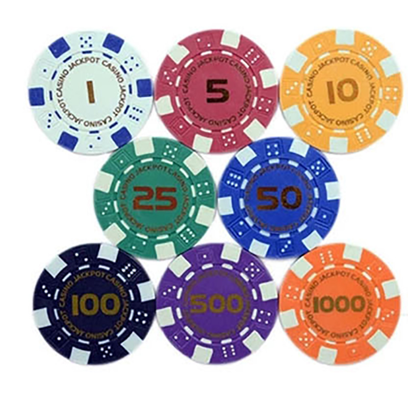 20 PCS/LOT Poker Chips 11.5g Iron/ABS Bronzing Casino Chips 8 Colors Texas Holdem Poker Wholesale Poker Chips Free Shipping