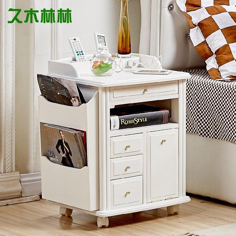 Paulownia bois simple chevet casiers japonais canapé armoire café coin armoire armoires latérales rangement Boxe