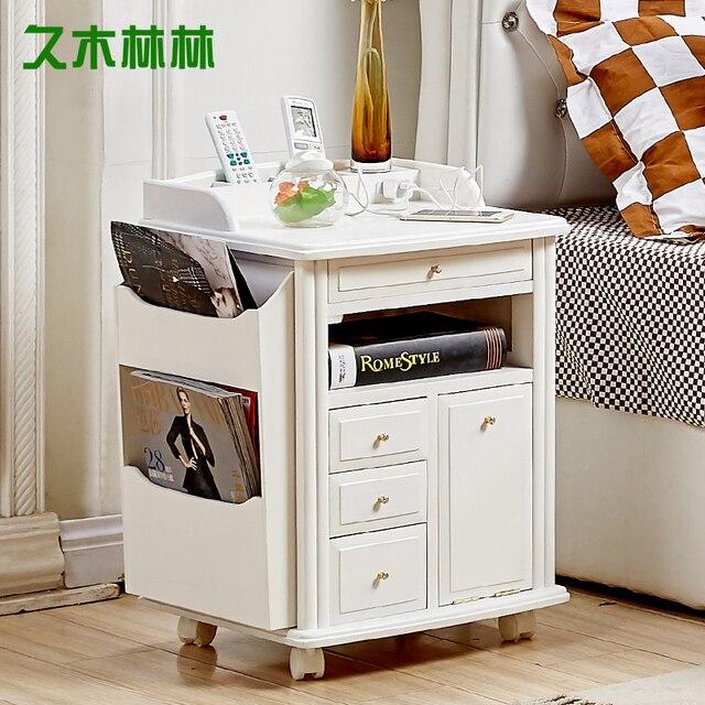 Paulownia Wood Simple Bedside Lockers Japanese Sofa Cabinet Coffee Corner Cabinet  Side Cabinets Storage Boxe