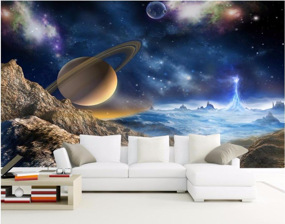 3d Wallpaper Designs For Living Room Custom Mural 3d Wallpaper Universe Stars Planets In The