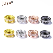 Spacer Beads For Jewelry Making High Quality AAA Zircon Rhinestone 5MM/8MM/10MM Findings mix Wholesale 10pcs