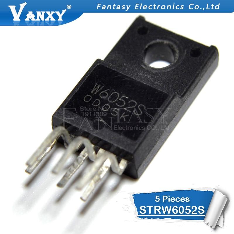 5pcs STRW6052S TO220F-6 W6052S TO-220F STRW6052 STR-W6052S W6052 TO-220 New Original