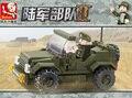 Подарок для мальчика 1 шт. пластиковые сборки головоломки маленькая модель армия танк джип автомобиль дети воспитательная игрушка