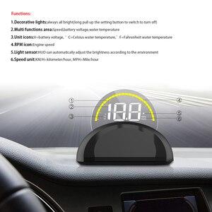 Image 2 - C700 OBD2 HUD רכב ראש למעלה תצוגה עם עגול מראה דיגיטלי מקרן רכב מד מהירות על לוח מחשב דלק קילומטראז טמפ