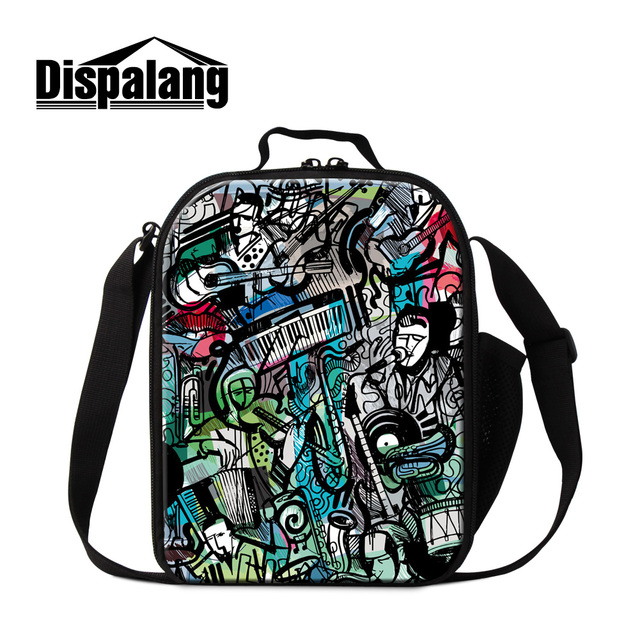 Dispalang novelty design Musical Vocal concert women lunch bag portable insulated cooler bags for kids school picnic lunch box