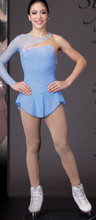 blue ice skating clothing for women hot sale spandex figure skating competition dress for girls free shipping ice skating dress