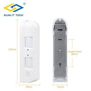 Image 2 - Sensor de movimiento Pir de cortina con cable, Detector de movimiento Pir de cortina antirrobo IP55, resistente al agua, Sensor pasivo antimascotas, sistema de alarma antirrobo para el hogar