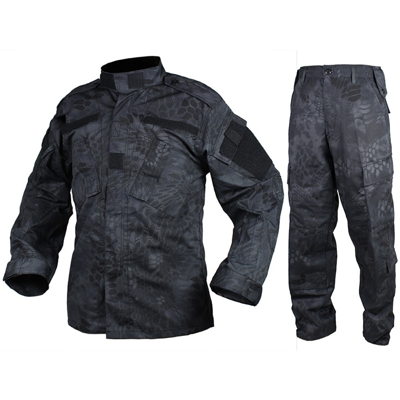 CQC Airsoft Tactical Camouflage Military Army BDU Uniform Combat Shirt & Pants Set Outdoor Paintball Hunting Clothing(TYP)